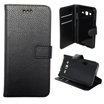 etui housse coque portefeuille samsung galaxy j3 2016 noir etui pour t l phone mobile. Black Bedroom Furniture Sets. Home Design Ideas