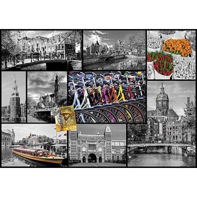 Puzzle 1000 pièces - Amsterdam Collage