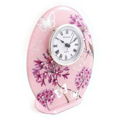 Horloge 'Papillon de Soie' rose mauve