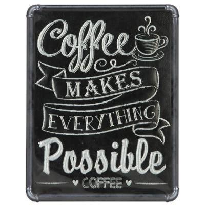 Sticker Relief Coffee 27x35cm Noir