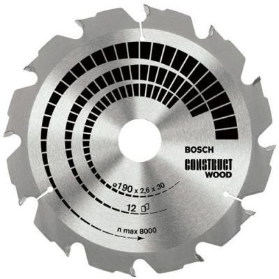 Bosch 2608640630 Lame De Scie Circulaire Construct Wood 160 X 20/16 X 2,6 Mm, 12, 1 Pièce