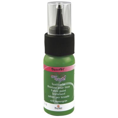 Peinture pour tissu - Vert éternel - 29 ml
