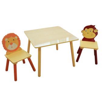 Ensemble Table Et 2 Chaises Pour Enfant En Bois Dim H 44 X L