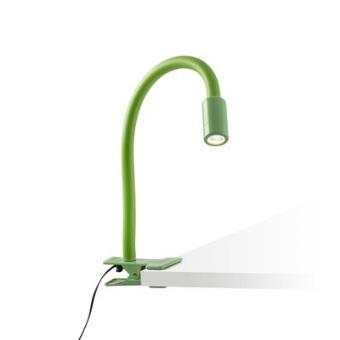 Lampe Bureau A Pince Nuka Led 3w Vert Mat Faro 54008 Achat
