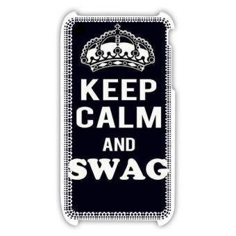 Coque iPhone 3G 3GS Keep Calm Swag Noir rigide 100 made in france