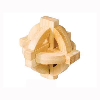 Casse-tête en bois bamboo : double disque