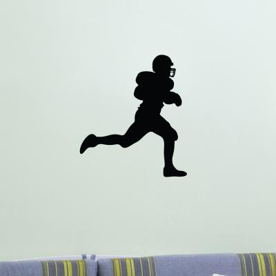 Pick and Stick Sticker Mural American football player - 40 x 30 cm, Noir