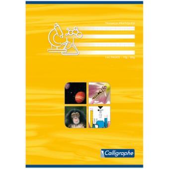 Cahier Travaux Pratiques Piqures Clairefontaine A4 Grand Carreaux 70g Dessin 48p