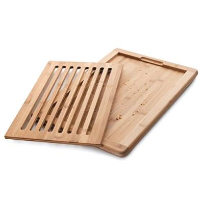 Lacor 60487 planche à découper le pain bambou beige