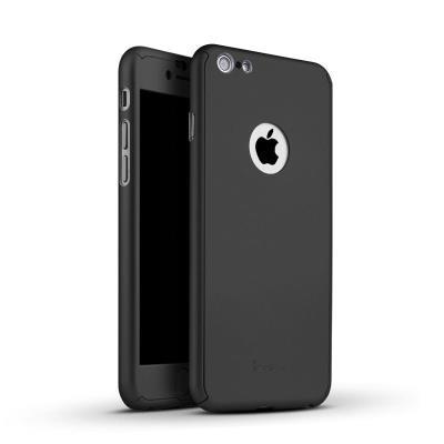 Coque iphone 6 6s coque integrale avant arriere verre trempe noir