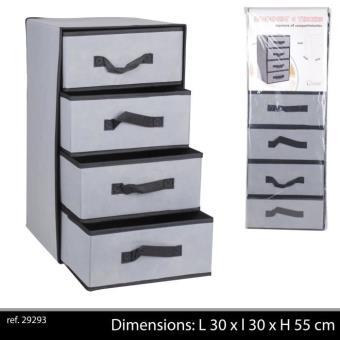 meuble rangement tissu 4 tiroirs pour chambre ou salle de. Black Bedroom Furniture Sets. Home Design Ideas