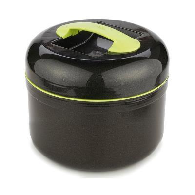 Boite repas isotherme - Noir et vert - Grande lunch box - 2.5 L
