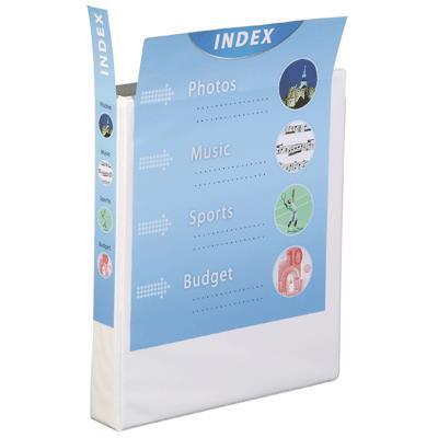 Classeur personnalisable pvc maxi A4 - dos 40 mm - couleur blanc