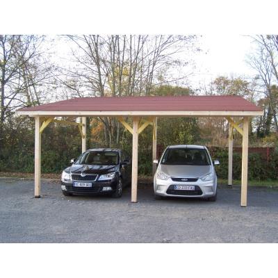 Habrita - Carport Double Monopente Avec Couverture Bardeau Bitumé