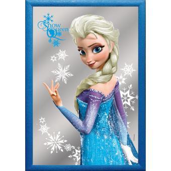 miroir la reine des neiges elsa die eisknigin avec cadre bleu top prix fnac - La Reine Des Neiges Elsa