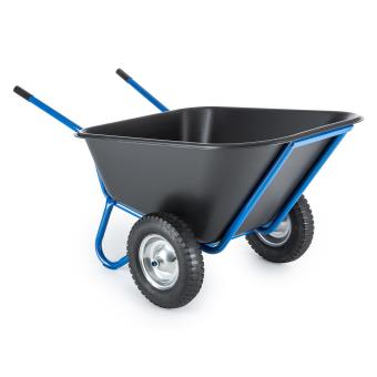 waldbeck colossus brouette 2 roues 300 litres charge maximale 350 kg bleue outillage de. Black Bedroom Furniture Sets. Home Design Ideas