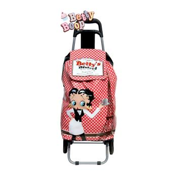 chariot de courses caddie betty boop rouge poussette. Black Bedroom Furniture Sets. Home Design Ideas