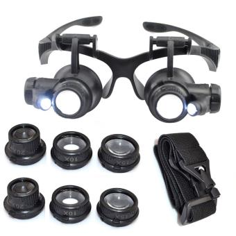 c8a7dd582db Kabalo 10X 15X 20X 25X LED lunettes loupe