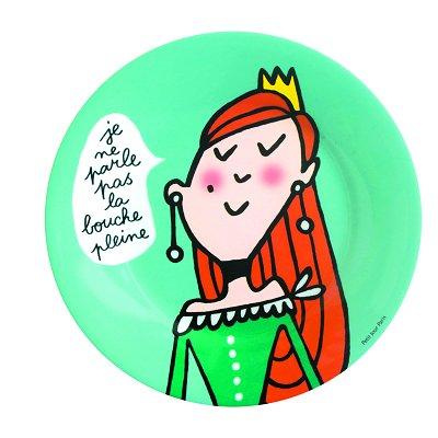 Petit Jour - Princesses - Assiette Princesses : Pas la bouche pleine