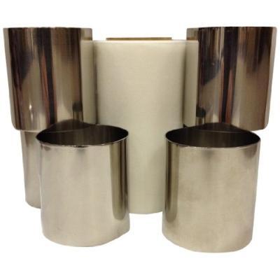 patisse 72092 kit de 6 cercles en inox + rouleau de papier sulfurisé argent 5,5 cm