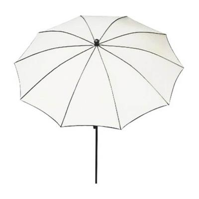 Parasol rond, tissu dralon coloris blanc - Dim : 140/10 - D 280 cm - PEGANE -