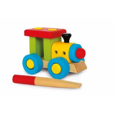 Jeu de construction en bois de la locomotive Marc