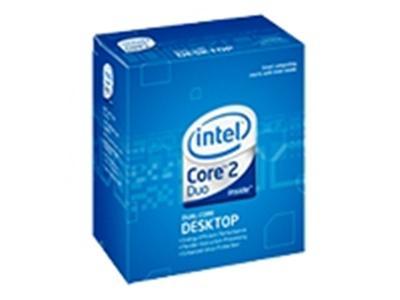 Processeur Core 2 Duo E7400 à 2.8 GHz, bus 1066 MHz, Socket LGA775, mémoire cache L2 3 Mo, version boîte