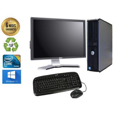 Unite Centrale Dell 780 SFF Core 2 Duo E7500 2,93Ghz Mémoire Vive RAM 8GO Disque Dur 320 GO Graveur DVD Windows 10 - Ecran 20(selon arrivage) - Processeur Core 2 Duo E7500 2,93Ghz RAM 8GO HDD 320 GO Clavier + Souris Fournis