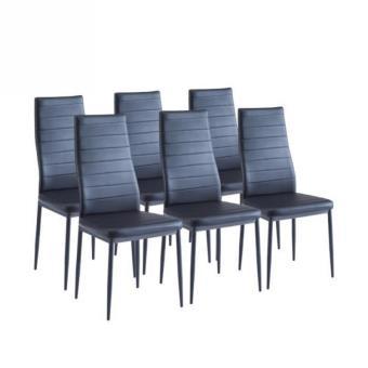 sam lot de 6 chaises de salle a manger noires achat prix fnac. Black Bedroom Furniture Sets. Home Design Ideas