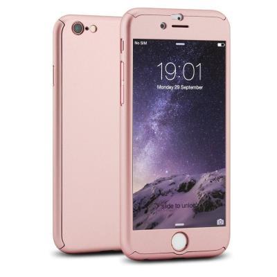 Coque iphone 6 6s coque integrale avant arriere verre trempe rose