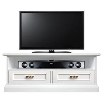 6 sur meuble tv barre de son 2 tiroirs achat prix fnac. Black Bedroom Furniture Sets. Home Design Ideas