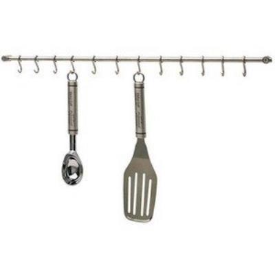 Kitchen craft rail de suspension en acier inoxydable pour ustensiles de cuisine 52cm