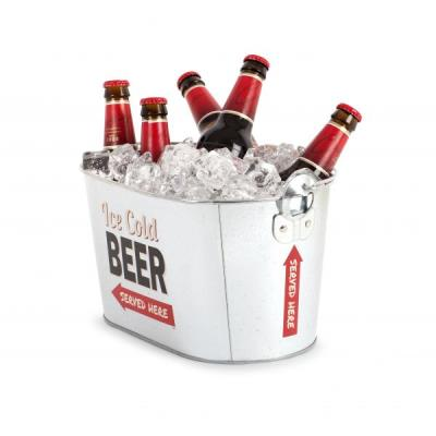 Seau à bière party time métal