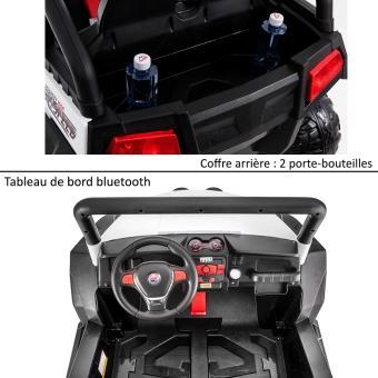 cc38bff6082cd Grand 4x4 buggy voiture électrique enfant 2 places pneus EVA 24V Rouge -  Véhicule électrique pour enfant - Achat   prix