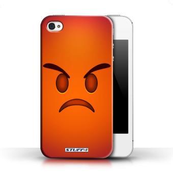 Coque De Stuff4 Coque Etui Housse Pour Apple Iphone 4 4s Colere Design Emoticone Emoji Collection Etui Pour Telephone Mobile Achat Prix Fnac