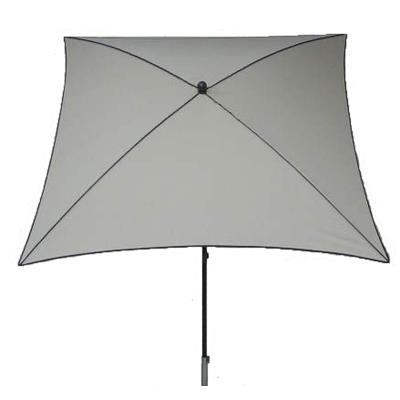 Parasol centré, tissu dralon coloris écru - Dim : 210X130/4 cm - PEGANE -