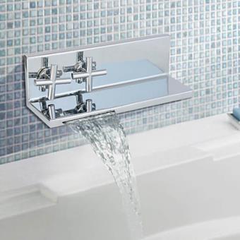 Robinet salle de bain à fixation murale, design contemporain ...