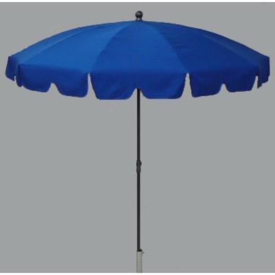 Parasol rond centré coloris bleu - Dim : H 230 x D 200/10 cm-PEGANE-