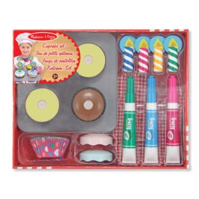Melissa & doug - 14019 - loisir créatif - jeu en bois de préparation et décoration de petits gâteaux