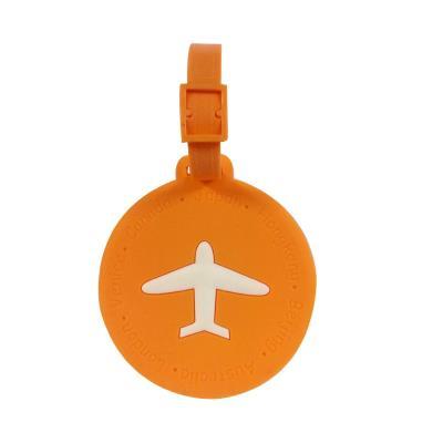 Etiquette à bagage / étiquette valise AVION ( Rond - Orange) - NOV@GO®