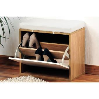 banc chaussures avec coussin rangement pour chaussures. Black Bedroom Furniture Sets. Home Design Ideas