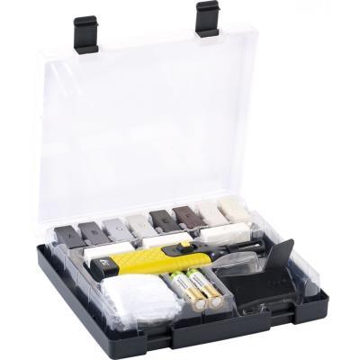 Kit de réparation pour sols et revêtements plastiques - 11 couleurs