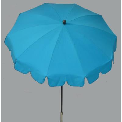 Parasol rond centré coloris Turquoise - Dim : H 230 x D 200/10 cm-PEGANE-