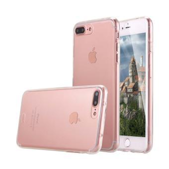 Coque Apple iPhone 7 Plus integrale 360 Houe Avant Et Arriere Silicone Gel Coloris Transparent Ordica France
