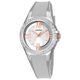 Argent Bracelet Quartz Uk56801 Calypso Femme Analogique Montre Trendy Pu CBexordW