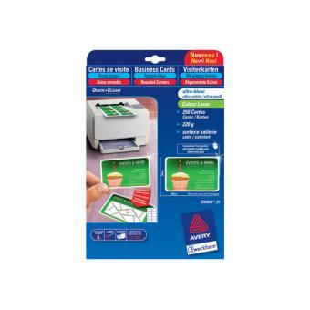 Avery Quick&Clean C32025 - cartes de visite - 250 carte(s) - Papier pour imprimante - Achat ...