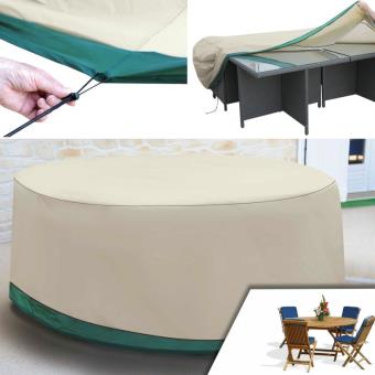 Housse de protection pour table ronde de jardin et ses ...