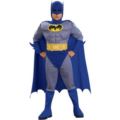 Costume de Batman Alliance des héros musclé garçon - 8-10 ans
