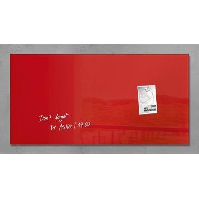Sigel SI-GL147 Panneau magnétique en verre Artverum 910x460x15mm Rouge