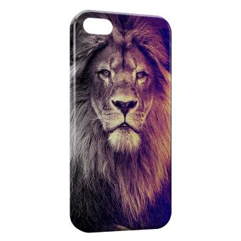 Coque iPhone 5 5S Lion Colors Fun